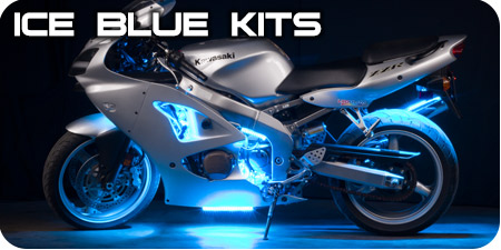 Ice Blue Motorcycle Kits