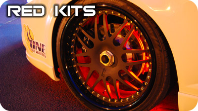 Red Wheel Well Kits