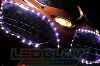 2pc White Flexible LED HeadLight Strip Kit